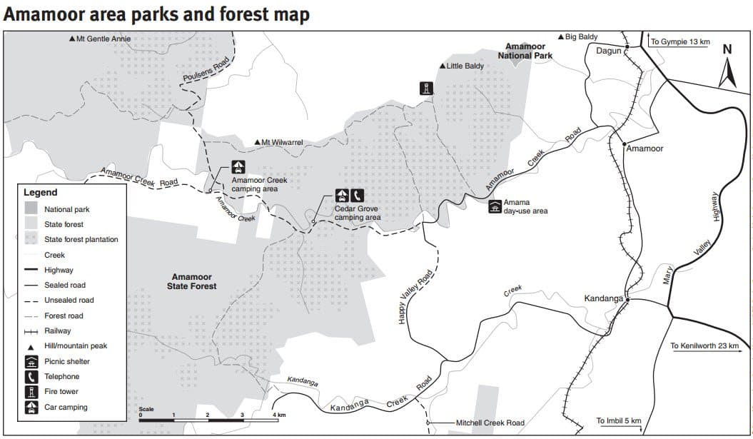 Amamoor State Forest Map