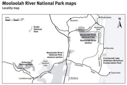 Mooloolah River National Park Map