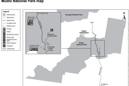 Mudlo National Park Map