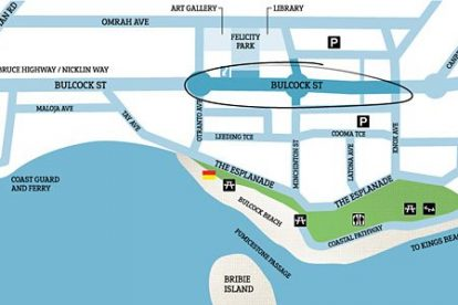 Caloundra Street Fair Map