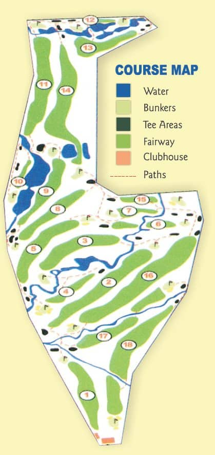Cooroy Golf Map