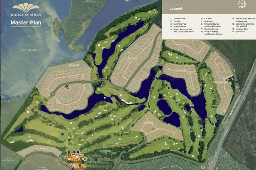 Noosa Springs Course Map
