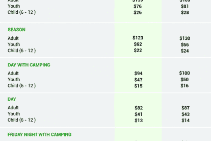 The Planting Festival Ticket Prices