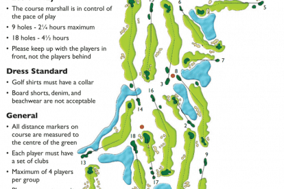 Twin Waters Golf Club Score Map
